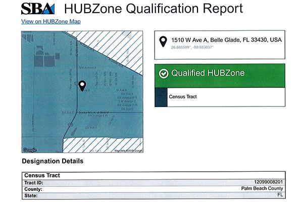 Federal HUB Zone